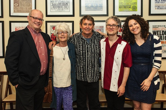 Pictured (L-R): The Country Music Hall of Fame and Museum's Michael McCall, Mary Martin, Bob Neuwirth, David Mansfield, and the Country Music Hall of Fame and Museum's Abi Tapia