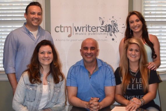Pictured, Front Row (L-R): Kathryn Graham, Executive Assistant, Catch This Music; Eddie Robba, President / CEO, CTM Writers INK; Faren Rachels. Back Row (L-R): Brandon Perdue. Creative Director, CTM Writers INK; Kristen Ashley, Song Plugger