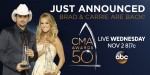 Brad Paisley, Carrie Underwood Will Host 50th Annual CMA Awards