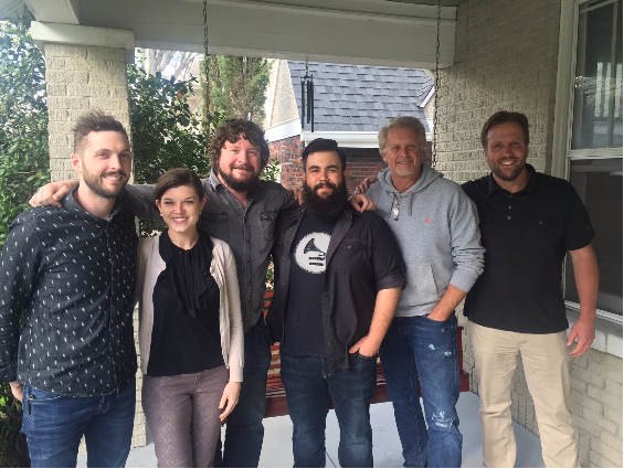 Featured Above (L-R): Combustion Music's Kenley Flynn, Safford Motley's Kelly Donley, Combustion Music's Chris Van Belkom, Anthony Olympia, Combustion Music's Chris Farren, Safford Motley's Scott Safford
