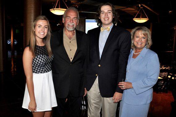 Pictured (L-R): Cecil Scaife's granddaughter Jaela; son Joe; grandson Tristan; Joe's wife, Danielle.