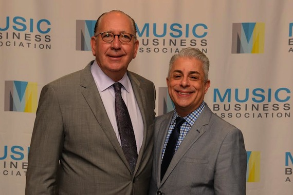 Pictured (L-R): John Esposito, Chairman & CEO, Warner Music Nashville; James Donio, President, Music Biz. Photo: Music Biz