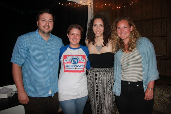 Pictured: (L-R): BMI's Mason Hunter, ALT983's Jess Kelley, BMI songwriter Jess Nolan and BMI's Nina Carter