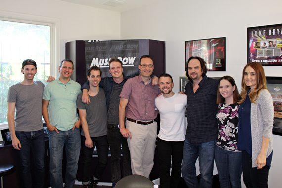 Sammy Arriaga with MusicRow staff.