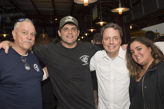 Key West Songwriters Festival's Charlie Bauer, artist Rhett Akins, BMI's Jody Williams and Key West Songwriters Festival's Dani Holliday gather for a photo at Conch Republic Seafood Company during Key West Songwriter's Festival on May 4, 2016. (Erika Goldring Photo)