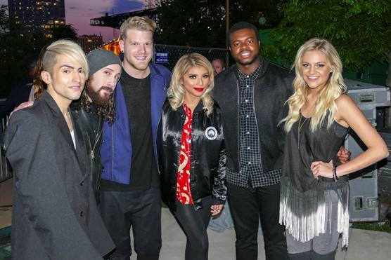 Kelsea Ballerini (far right) was introduced by Pentatonix, prior to the group's show at Bridgestone Arena. Courtesy of The Recording Academy/photo by Frederick Breedon/WireImage.com
