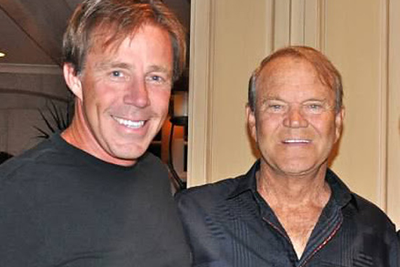 Pictured (L-R): TK Kimbrell and Glen Campbell.