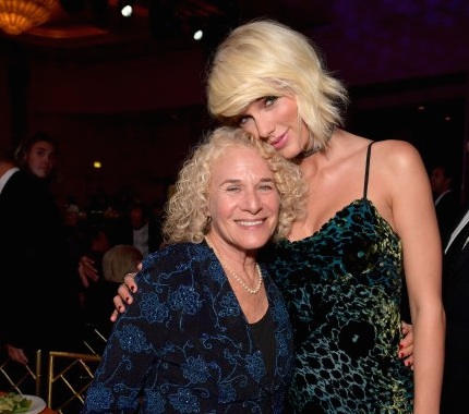 Pictured (L-R): Songwriter Carole King and honoree Taylor Swift attend The 64th Annual BMI Pop Awards. Photo: Lester Cohen/Getty Images for BMI