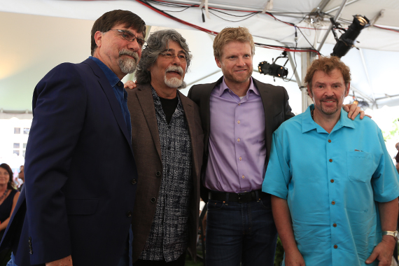 Alabama's Teddy Gentry, Randy Owen, BMG's Kos Weaver, and the band's Jeff Cook.