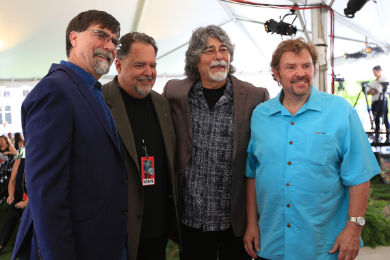 Pictured (L-R): Alabama's Teddy Gentry, the band's manager Tony Conway, Alabama's Randy Owen and Jeff Cook.