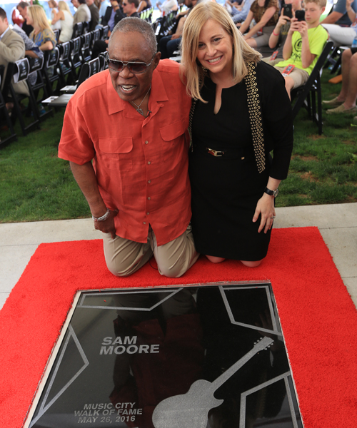 Pictured (L-R): Sam Moore with Nashville Mayor Megan Berry.
