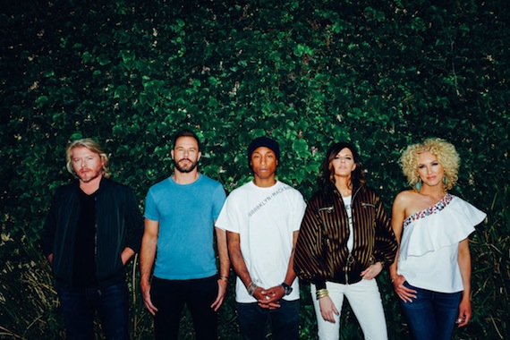 Little Big Town and Pharrell (center)