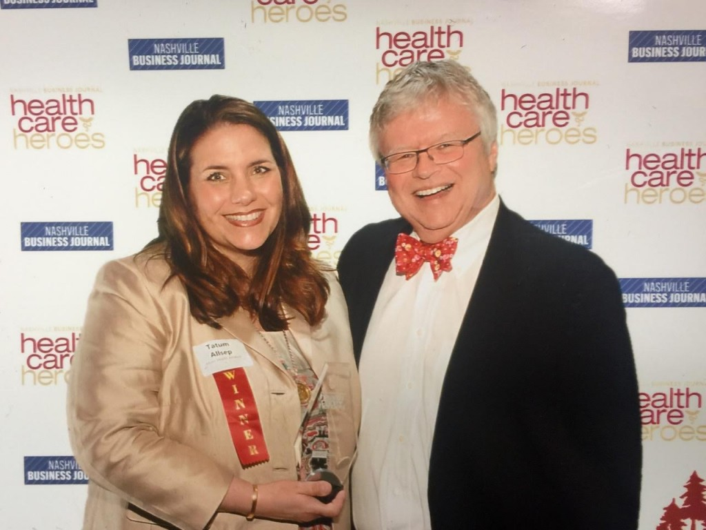 Photo: Tatum Allsep (Founder and Executive Director, Music Health Alliance) and husband, Dr. Michael Allsep. Photo courtesy Nashville Business Journal