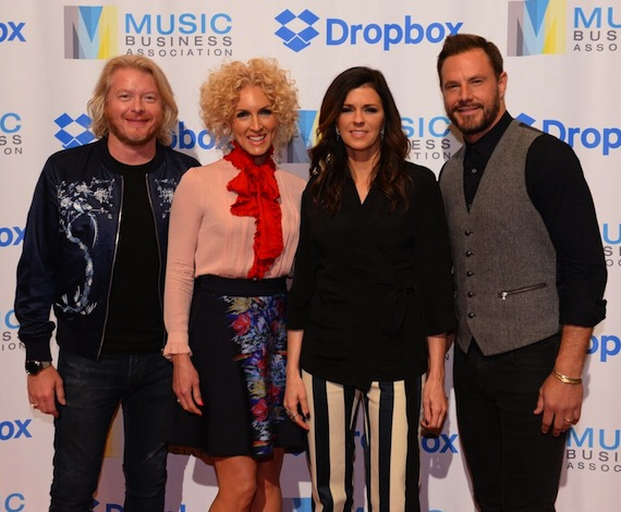 Little Big Town backstage at Music Biz. Photo: Music Biz