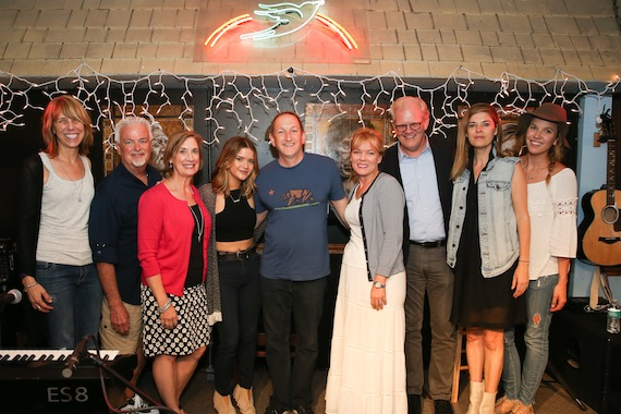 Erika Wollam Nichols, Bluebird Cafe; Paul Moore, ACM Parliamentarian; Beth Moore, ACM Lifting Lives & Director of Community Development at Vanderbilt University; Maren Morris; Ed Warm, ACM Lifting Lives President; Teresa George, ACM SVP, Brand Integration & Strategic Partnerships; Stuart Dill, VUMC Entertainment Industry Liaison; Janet Weir, Red Light Management; Mary Catherine Kinney, Sony Music. Photo: Getty Images/Terry Wyatt/Courtesy of ACM Lifting Lives