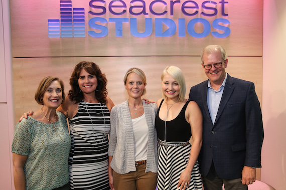 Pictured (L-R): Vanderbilt's Beth Moore, Lorie Lytle, Academy of Country Music CEO Tiffany Moon, singer-songwriter RaeLynn and VUMC Entertainment Industry Liaison Stuart Dill. Photo: Terry Wyatt/Getty Images for Academy of Country Music