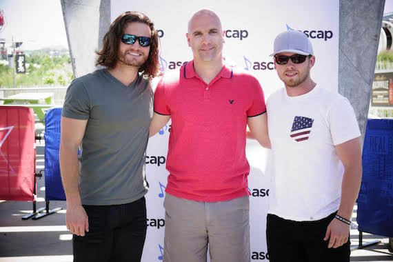 Pictured (L-R): Hunter Phelps, ASCAP's Robert Filhart and Jameson Rogers