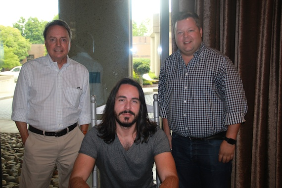 Pictured (L-R): BMI's Jody Williams, BMI songwriter Alexander Palmer and BMI's Bradley Collins