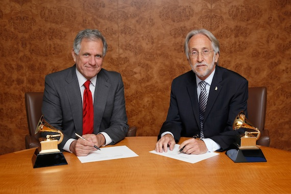 Pictured (L-R): Leslie Moonves, CBS; Neil Portnow, The Recording Academy. Photo: Monty Brinton/CBS