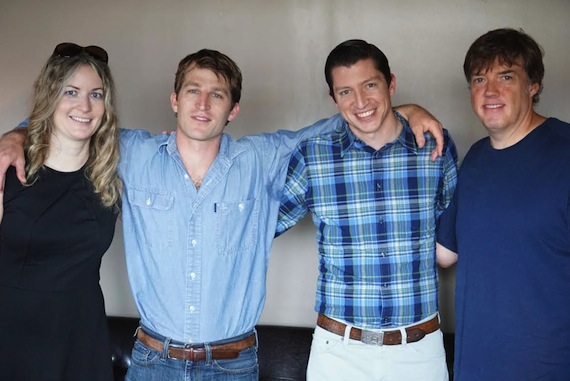 Pictured (L-R): Courtney Gregg, Carnival Music; Derik Hultquist; Zach Bevill, Thirty Tigers; Frank Liddell, Carnival Music