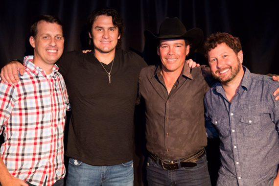 Pictured (L-R): Tige (The Big 98 WSIX), Joe Nichols, Clay Walker and Daniel (The Big 98 WSIX).