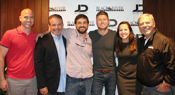 PHOTO (L-R): ASCAP's Robert Filhart, Black River Entertainment EVP Rick Froio, Attorney T.D. Ruth, Jacob Davis, Attorney Lauren Kilgore and Black River Entertainment CEO Gordon Kerr