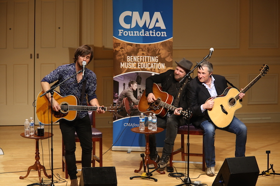 Pictured (L-R): Charlie Worsham, Kristian Bush and Jim Collins.