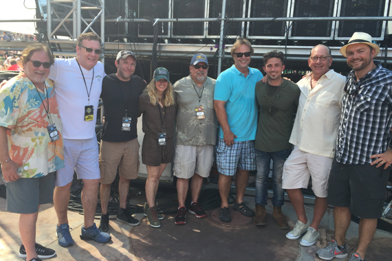 Pictured (L-R): Rod Essig (Music Agent and Co-head, CAA Nashville), Peter Strickland (EVP/GM, WMN), Brandon Mauldin (Conway Entertainment), Cris Lacy (VP, A&R), Tony Conway (Conway Entertainment), Scott Hendricks (EVP, A&R), Michael Ray, John Esposito (Chairman & CEO, WMN), Jordan Pettit (VP, Promotion.