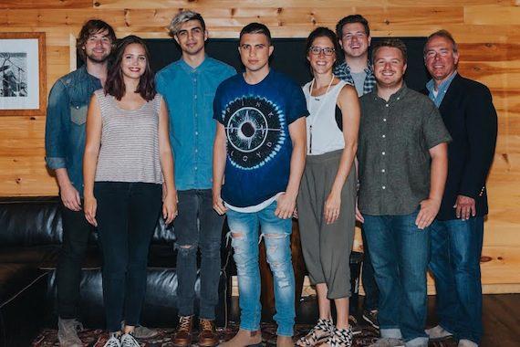 Pictured (L-R): Jimmy Robbins, Sarah Robbins, Kyle Guisande, Devin Guisande, Penny Gattis, Josh Tomlinson, Josh Saxe, Mark Brown. Photo: Amy Allmand