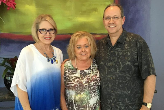 Pictured (L-R): Suzanne Lee, ASCAP; Pat Rolfe, SOURCE member and longtime ASCAP employee); Shelby Kennedy, TuneCore V.P. Photo credit: SOURCE
