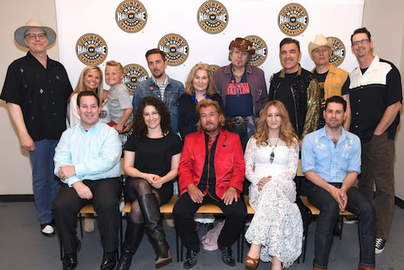 Pictured (Back row, L-R): Webb Wilder; Halley Phillips and son Noah Yeager; JD McPherson; Sally Wilbourn; and Sonny George, Eddie Angel, Bill Swartz and Mark D. Winchester of The Planet Rockers. (Front row, L-R): Country Music Hall of Fame and Museum's Michael Gray and Abi Tapia, Jerry Philips, Margo Price and Micah Hulscher. Photo: Jason Davis/Getty Images for Country Music Hall of Fame & Museum