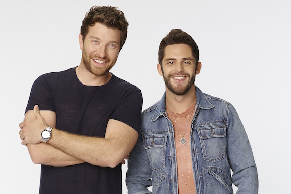 Brett Eldredge, Thomas Rhett. Photo: Craig Sjodin/ABC