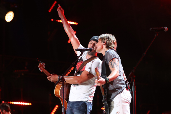 Luke Bryan and Keith Urban. Photo: Donn Jones