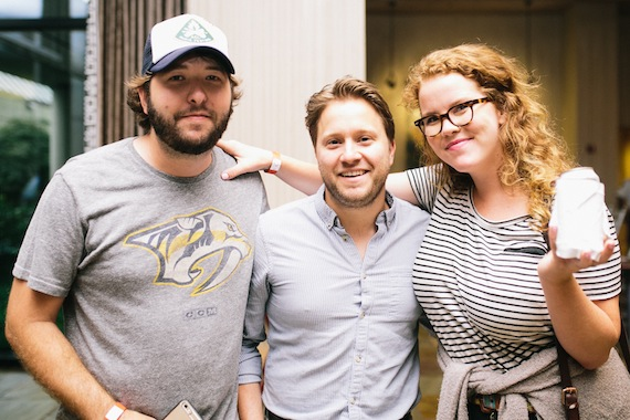 Pictured (L-R): Ryan Beaver, singer/songwriter; Marc Rucker, Parallel Entertainment; Natalie Osborne, Downtown Music Publishing. Photo: Lindsey Grace Whiddon