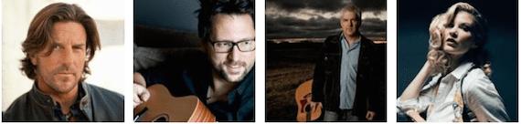 L-R: Brett James, Chris DeStefano, Rivers Rutherford, Emily West