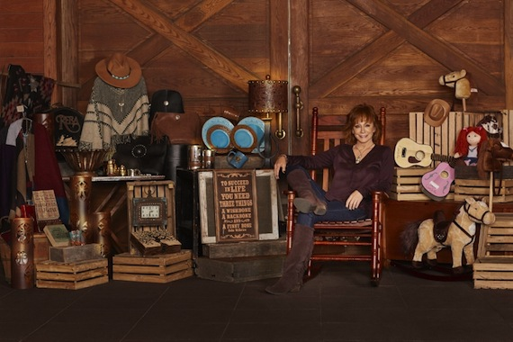 Reba McEntire poses with her retail line, Rockin' R By Reba. Photo: Cracker Barrel Old Country Store.