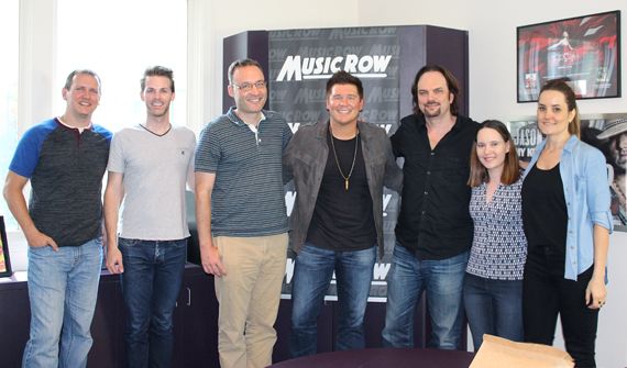 Adam Craig with MusicRow staff.
