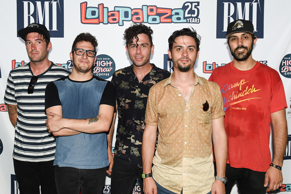 Arkells on the 2016 BMI Stage at Lollapalooza.
