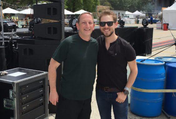 Ed Warm (Joe's Bar, Joe's Live, Bub City), with Brett Kissel. Photo: Splash PR