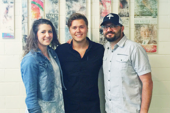 Pictured (L-R): Jen Duke, Creative Manager, RTMP; Christian Lopez; Brad Kennard, VP Creative, RTMP. Photo: Natalie Sinclaire