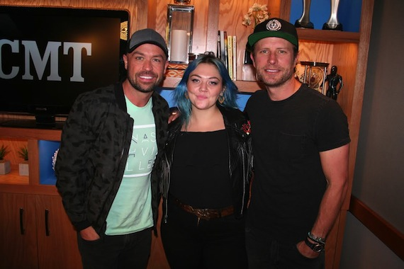 Pictured (L-R): Cody Alan, Elle King, Dierks Bentley