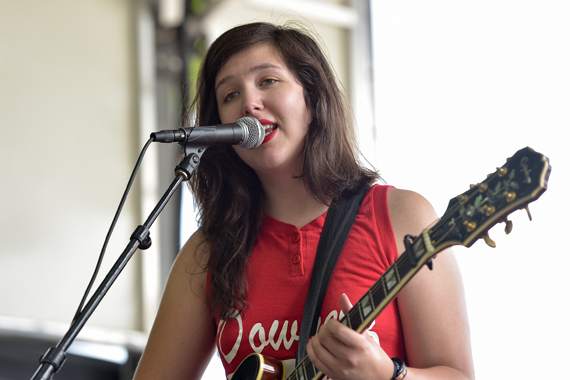 Lucy Dacus on the 2016 BMI Stage at Lollapalooza.