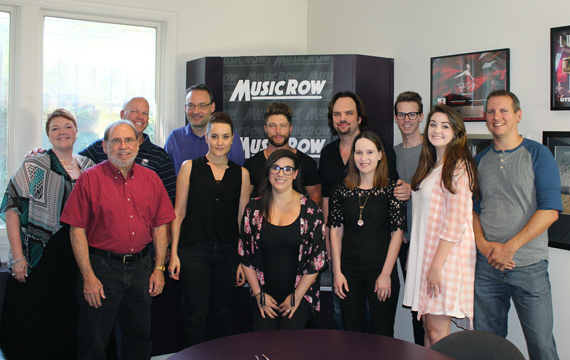 Chris Lane with members of the Big Loud Records and MusicRow teams.