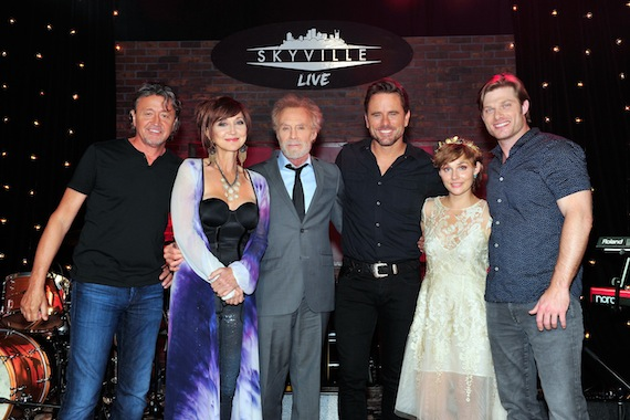 Pictured (L-R): Mark Collie, Pam Tillis, JD Souther, Charles Esten, Clare Bowen, Chris Carmack. Photo: Frederick Breedon/Getty Images