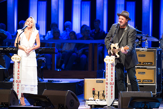 """Ashley Monroe joins Gill onstage to perform """"Trying To Get Over You"""" and """"You Ain't Dolly."""""""