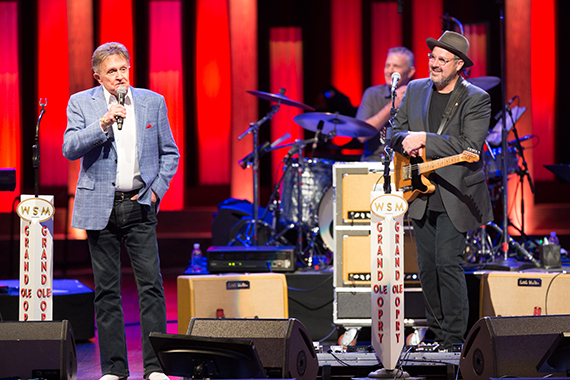 "Opry legend and friend Bill Anderson performs ""Which Bridge To Cross"" with Gill on Saturday night's Opry."