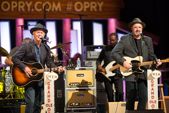"""Rodney Crowell joins his friend Vince Gill onstage to perform """"Oklahoma Borderline,"""" """"'Til I Gain Control Again"""" and """"Let It Roll, Let It Ride."""""""
