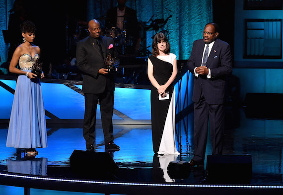 Lori Stewart, daughter of Jim Stewart, co-founder of Stax Records, and Al Bell, co-owner of Stax Records are honored during the NMAAM 2016 Black Music Honors. Photo: Jason Davis/Getty Images for National Museum of African American Music