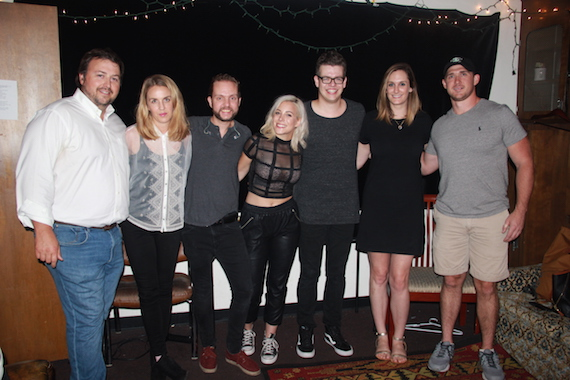 Pictured (L-R): BMI's Mason Hunter, ALT 983's Gabby Sanderson, BMI songwriter/CAPPA band member Keith Perez, BMI songwriter Carla Cappa a.k.a. CAPPA, CAPPA band member Carter Hamblin, BMI's MaryAnn Keen and Jim Beam's Andy Velo.