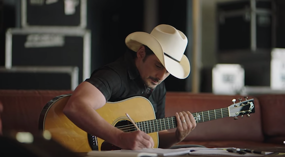 Brad Paisley in the new Nationwide campaign.